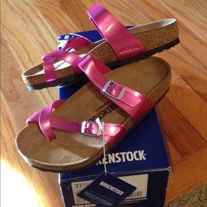 new tags in box women mayari pink birkenstock 37
